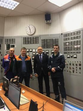 На центральном щите управления Минской ТЭЦ-4